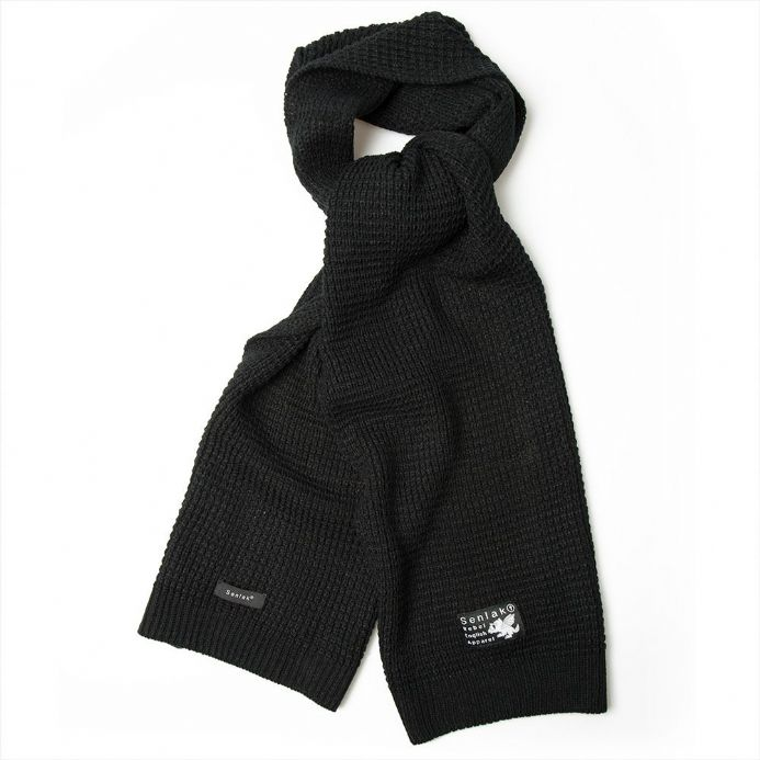 Senlak Rebel English Knit Scarf - Black England Scarf